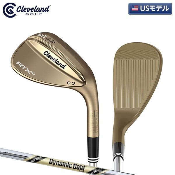 「USモデル」 クリーブランド ゴルフ RTX4 ツアーロウ ノーメッキ ウェッジ ダイナミックゴールド ツアーイシュー S400 スチールシャフト Tour ISSUE RAW RTX-4