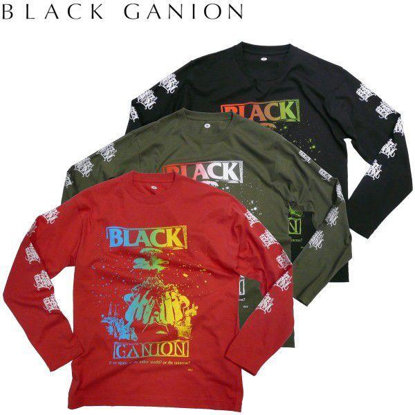 BLACK GANION オフィシャル UNDERWORLD OR UNIVERSE LONG T Shirt  ブラックガニオンロングTシャツ POPGROUP ハードコア ポップグループ グラインドコア BAND fatmoes
