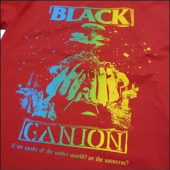BLACK GANION オフィシャル UNDERWORLD OR UNIVERSE LONG T Shirt  ブラックガニオンロングTシャツ POPGROUP ハードコア ポップグループ グラインドコア BAND fatmoes 05