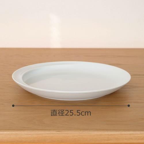 白山陶器 コモ プレート 大 25.5cm 波佐見焼 大皿 COMMO HAKUSAN おしゃれ 青 白 日本製|favoritestyle|02