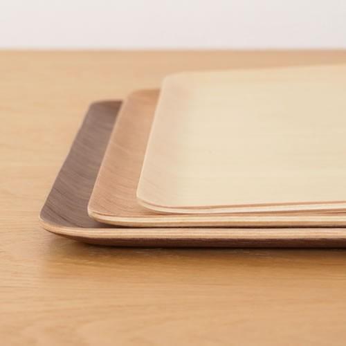 トレー 木製 おしゃれ お盆 カフェトレー 長方形 39.5cm 日本製 ランチョンマット Natural Plywood Tray Recta L ゴールドクラフト|favoritestyle|05