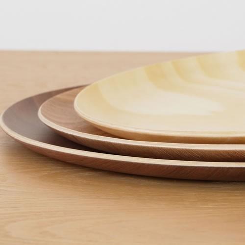 トレー 木製 お盆 丸盆 円形 32cm 丸 日本製 カフェトレー Natural Plywood Tray Round L GOLD CRAFT ゴールドクラフト|favoritestyle|05