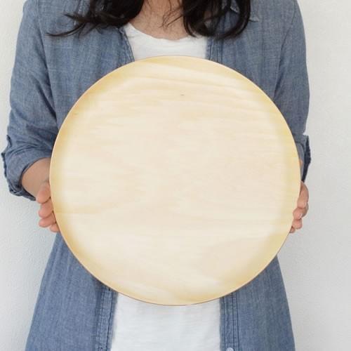 トレー 木製 お盆 丸盆 円形 32cm 丸 日本製 カフェトレー Natural Plywood Tray Round L GOLD CRAFT ゴールドクラフト|favoritestyle|07