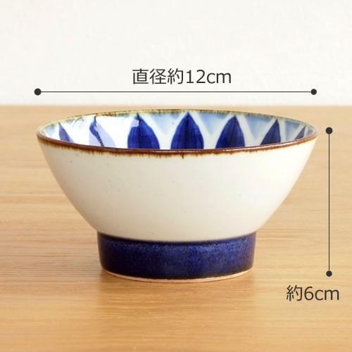 波佐見焼 HASAMI 翔芳窯 藍の器 くらわんか椀 大 茶碗 磁器 職人 手書き 軽量 軽い 薄い 日本製|favoritestyle|02