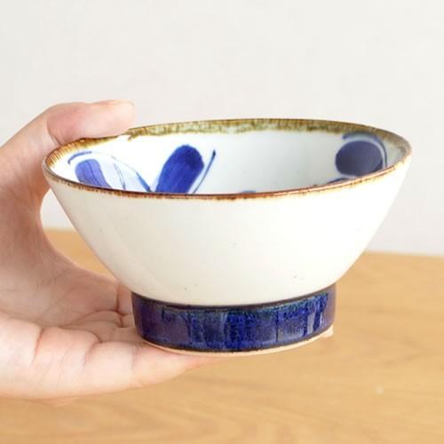 波佐見焼 HASAMI 翔芳窯 藍の器 くらわんか椀 大 茶碗 磁器 職人 手書き 軽量 軽い 薄い 日本製|favoritestyle|04