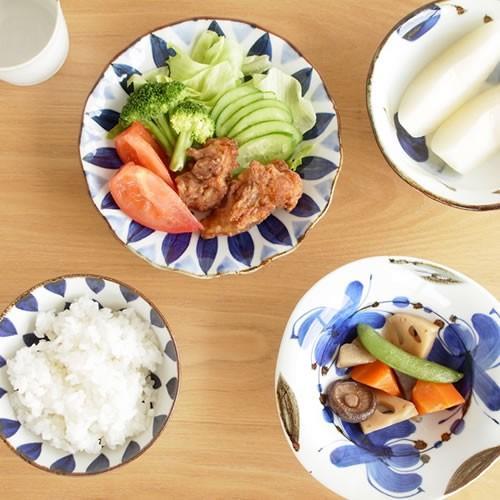 波佐見焼 HASAMI 翔芳窯 藍の器 くらわんか椀 大 茶碗 磁器 職人 手書き 軽量 軽い 薄い 日本製|favoritestyle|06