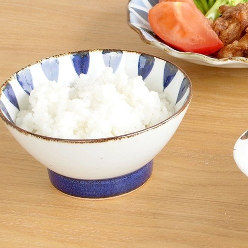 波佐見焼 HASAMI 翔芳窯 藍の器 くらわんか椀 大 茶碗 磁器 職人 手書き 軽量 軽い 薄い 日本製|favoritestyle|07