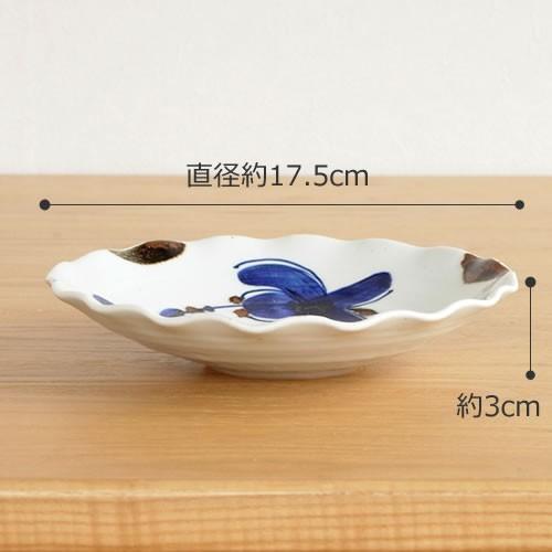 波佐見焼 HASAMI 翔芳窯 藍の器 銘々皿 17.5cm プレート 小皿 取皿 浅皿 陶磁器 職人 手書き 軽量 軽い 薄い 日本製|favoritestyle|02
