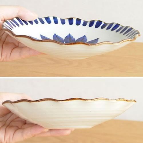 波佐見焼 HASAMI 翔芳窯 藍の器 銘々皿 17.5cm プレート 小皿 取皿 浅皿 陶磁器 職人 手書き 軽量 軽い 薄い 日本製|favoritestyle|05