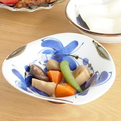 波佐見焼 HASAMI 翔芳窯 藍の器 変形中鉢 16cm 鉢 取鉢 取皿 深皿 ボウル 陶磁器 職人 手書き 軽量 軽い 薄い 日本製|favoritestyle|07