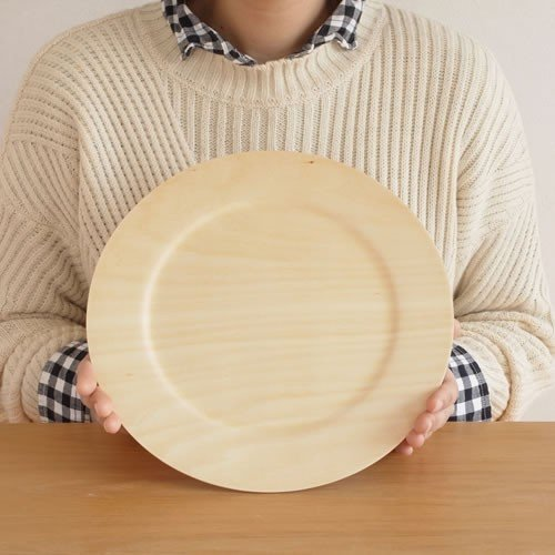 木製 食器 皿 プレート 丸型 円形 日本製 Natural Plywood Plate Wide Rim M GOLD CRAFT ゴールドクラフト|favoritestyle|07