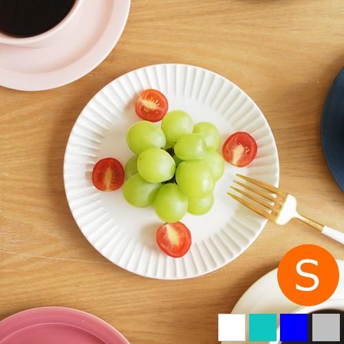 SAKUZAN ストライプ Stripe 丸皿 S 15.3cm プレート 作山窯 美濃焼 食器 取り皿 小皿 浅皿 日本製 和食器 手仕事 うつわ 器 手作り|favoritestyle
