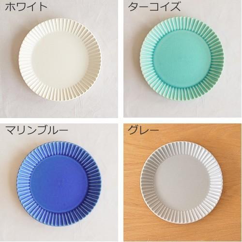 SAKUZAN ストライプ Stripe 丸皿 S 15.3cm プレート 作山窯 美濃焼 食器 取り皿 小皿 浅皿 日本製 和食器 手仕事 うつわ 器 手作り|favoritestyle|03
