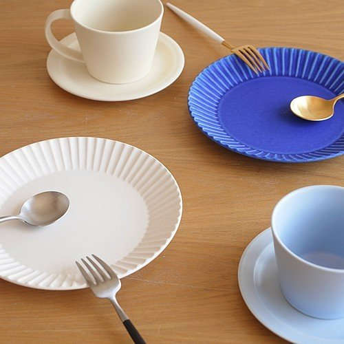 SAKUZAN ストライプ Stripe 丸皿 S 15.3cm プレート 作山窯 美濃焼 食器 取り皿 小皿 浅皿 日本製 和食器 手仕事 うつわ 器 手作り|favoritestyle|05