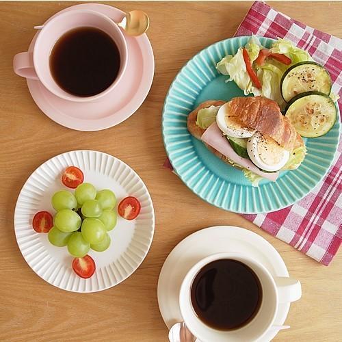 SAKUZAN ストライプ Stripe 丸皿 S 15.3cm プレート 作山窯 美濃焼 食器 取り皿 小皿 浅皿 日本製 和食器 手仕事 うつわ 器 手作り|favoritestyle|06