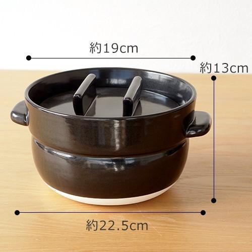 かもしか道具店 ごはんの鍋 3合 日本製 土鍋 萬古焼 ご飯鍋 3合炊き|favoritestyle|06
