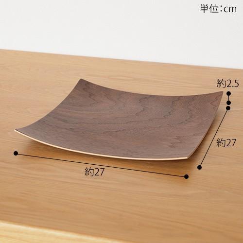木製食器 皿 プレート 木製 食器 四角 スクエア 正方形 27cm 日本製 Natural Plywood Dish Square L GOLD CRAFT ゴールドクラフト|favoritestyle|06