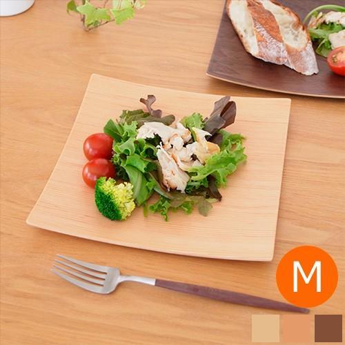 木製食器 皿 プレート 木製 食器 四角 スクエア 正方形 21.5cm 日本製 Natural Plywood Dish Square M GOLD CRAFT ゴールドクラフト|favoritestyle