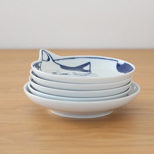 波佐見焼 neco皿 5枚セット 木箱入り とり皿 取り皿 ケーキ皿 猫皿 ねこ皿 磁器 猫 皿 石丸陶芸 日本製|favoritestyle|12