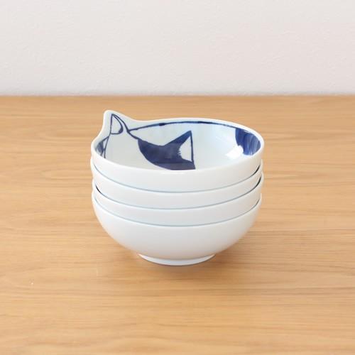 波佐見焼 neco鉢 4枚セット 木箱入り 小鉢 取り鉢 取り皿 ボウル 猫鉢 ねこ鉢 猫 磁器 石丸陶芸 日本製|favoritestyle|11