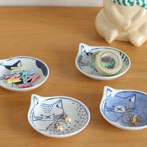 波佐見焼 coneco皿 小皿 豆皿 4枚 セット こねこざら 箱入り 猫皿 ねこ皿 取り皿 平皿 磁器 和食器 猫 皿 石丸陶芸 日本製|favoritestyle|07