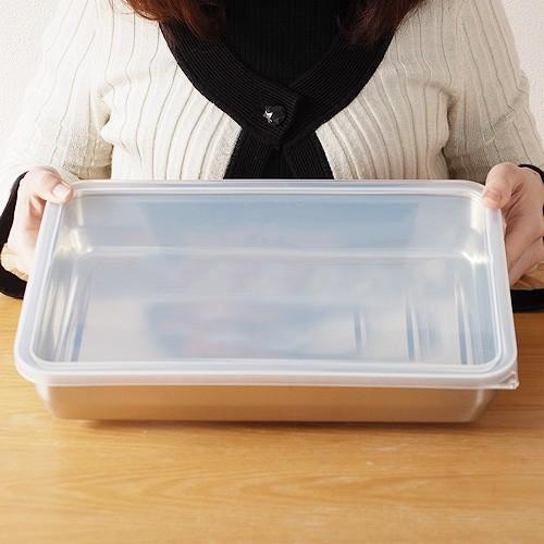 家事問屋 バット 蓋付き システムバット 1/1 ステンレス 角型 下ごしらえ 常備菜 作り置き キッチンツール 日本製 36502|favoritestyle|05