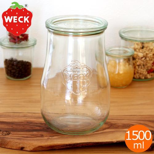 [5/30までポイント5倍] WECK キャニスター チューリップシェイプ 1500ml TULIP SHAPE ガラスキャニスター ウェック 保存容器 保存瓶 WE-738|favoritestyle