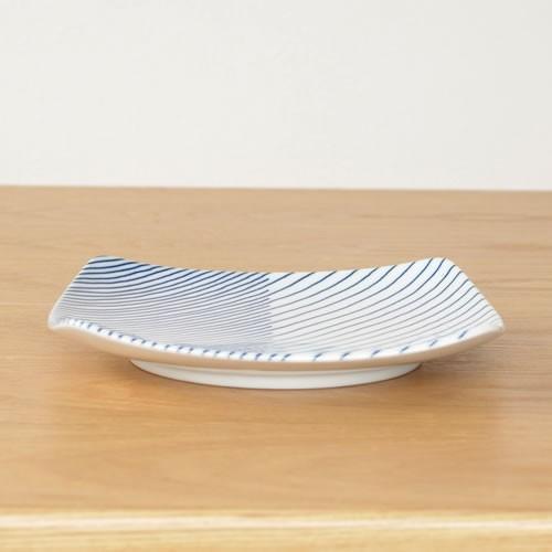 白山陶器 重ね縞 反角中皿 波佐見焼 16.5×16.5cm 角皿 HAKUSAN HKSN-KNJ-02|favoritestyle|04