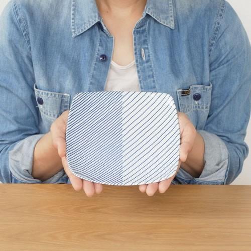 白山陶器 重ね縞 反角中皿 波佐見焼 16.5×16.5cm 角皿 HAKUSAN HKSN-KNJ-02|favoritestyle|05