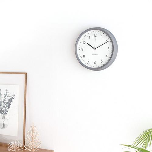 壁掛け時計 電波時計 木製 日本製 加藤木工 KATOMOKU カトモク 連続秒針 muku round wall clock 4 グレー KM-57GRC|favoritestyle|02