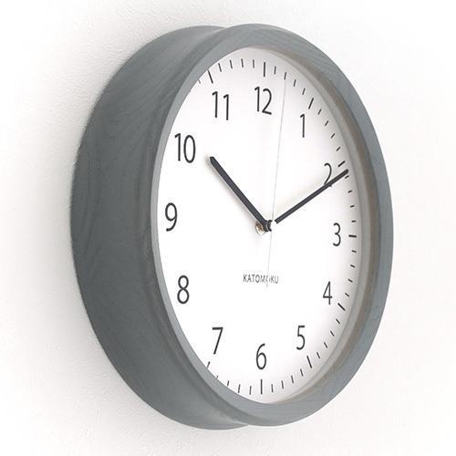 壁掛け時計 電波時計 木製 日本製 加藤木工 KATOMOKU カトモク 連続秒針 muku round wall clock 4 グレー KM-57GRC|favoritestyle|04