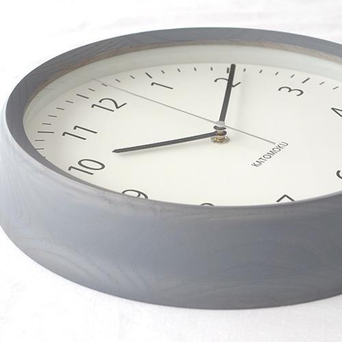 壁掛け時計 電波時計 木製 日本製 加藤木工 KATOMOKU カトモク 連続秒針 muku round wall clock 4 グレー KM-57GRC|favoritestyle|09
