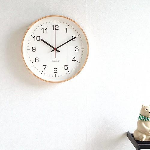 壁掛け時計 電波時計 木製 日本製 加藤木工 KATOMOKU カトモク 連続秒針 plywood wall clock 4 L ナチュラル 曲木時計 KM-61NRC favoritestyle 02