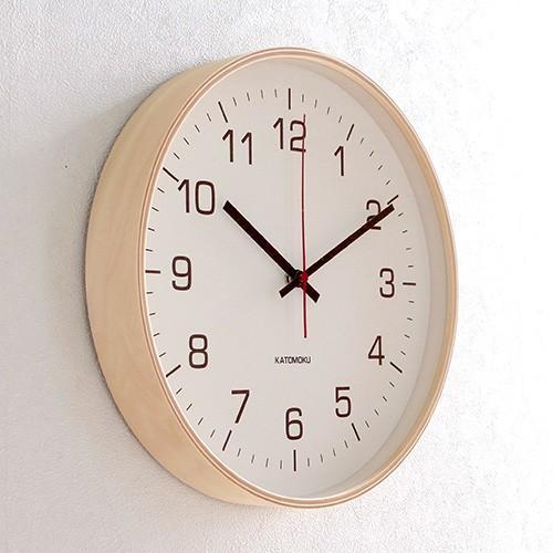 壁掛け時計 電波時計 木製 日本製 加藤木工 KATOMOKU カトモク 連続秒針 plywood wall clock 4 L ナチュラル 曲木時計 KM-61NRC favoritestyle 03