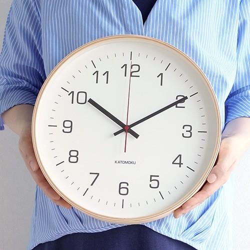 壁掛け時計 電波時計 木製 日本製 加藤木工 KATOMOKU カトモク 連続秒針 plywood wall clock 4 L ナチュラル 曲木時計 KM-61NRC favoritestyle 04