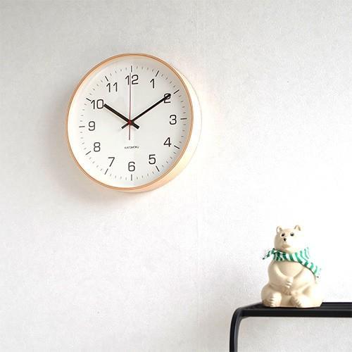 壁掛け時計 電波時計 木製 日本製 加藤木工 KATOMOKU カトモク 連続秒針 plywood wall clock 4 L ナチュラル 曲木時計 KM-61NRC favoritestyle 05