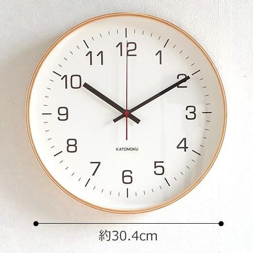 壁掛け時計 電波時計 木製 日本製 加藤木工 KATOMOKU カトモク 連続秒針 plywood wall clock 4 L ナチュラル 曲木時計 KM-61NRC favoritestyle 06