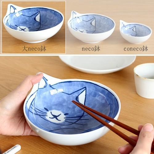 波佐見焼 Family neco鉢 コテツ 3枚 セット 箱入り 猫皿 ねこ皿 猫鉢 猫 深皿 ボウル どんぶり とんすい 石丸陶芸 日本製|favoritestyle|04