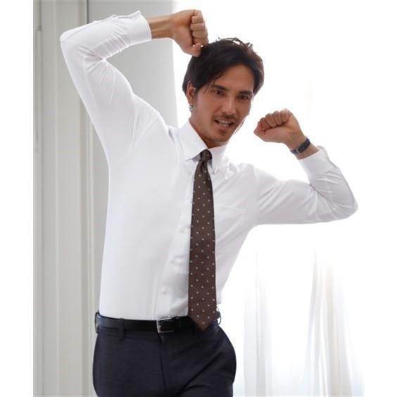 (特別価格) ノーアイロン長袖ストレッチiシャツ 伸びる ワイシャツ M-10L レギュラーカラー 大きいサイズ メンズ はるやま i-Shirt|faz-store|02