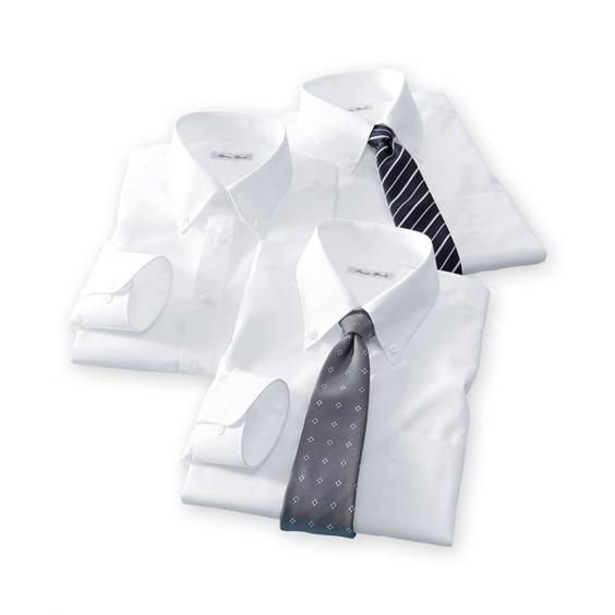 長袖ワイシャツ3枚セット メンズ M-8L ボタンダウン 抗菌防臭・形態安定長袖ワイシャツ3枚組 まとめ買いでお買い得! 大きいサイズ メンズ 送料無料|faz-store|05