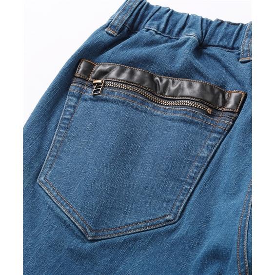 ストレッチ素材で動きやすい! 後ポケット合皮使いストレッチデニムパンツ メンズ M-10L 洗濯機で洗えるので汚れてもOK! 大きいサイズ メンズ ニッセン faz-store 04