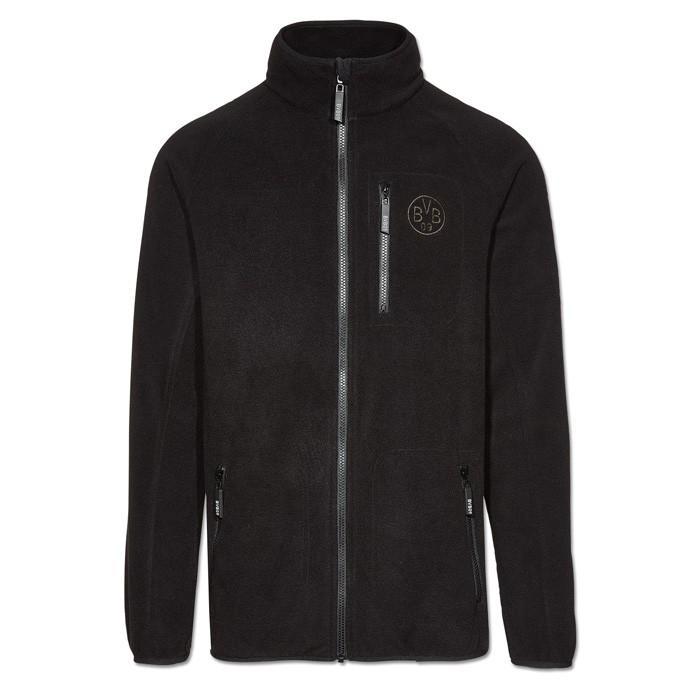 ドルトムント オフィシャル フルジップ フリースジャケット(ブラック)(サッカー ウェア ジャケット)18200601