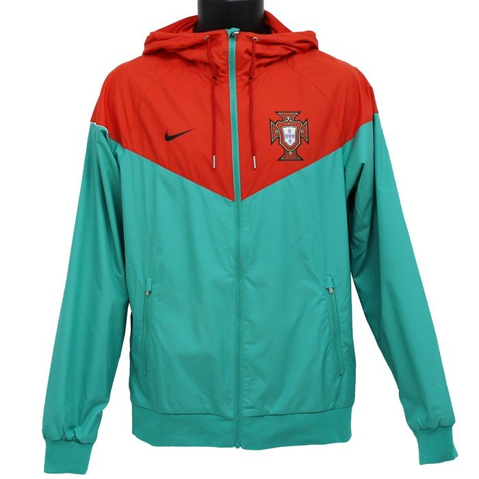 ポルトガル代表 18-19 オーセンティック ウインドランナー ウーブン ジャケット(エメラルド×レッド)(NIKE/ナイキ)(サッカー ウインドブレーカー)(891334-348)