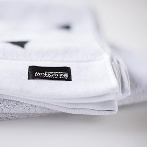 sisdesign MONOTONE ランダム トライアングル柄 モノトーン タオルケット 140cm×200cm (ホワイト)