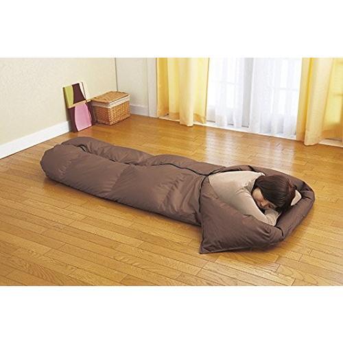 羽毛寝袋 (シュラフ) 羽毛肌掛け布団 兼用 便利な収納ケース付 日本製
