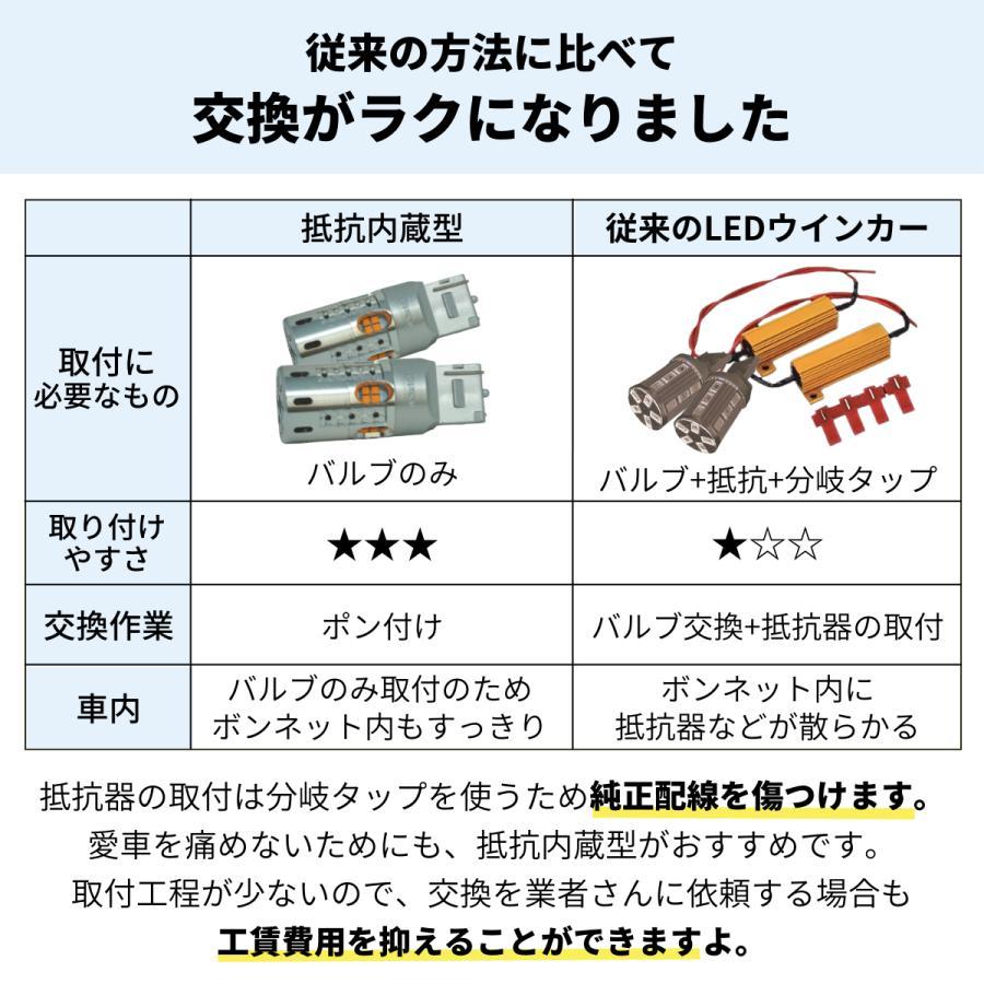 fcl led 抵抗内蔵LEDバルブ ウインカー用 ハイフラ防止 T20 S25 アンバー 2個セット fcl.|fcl|03