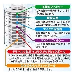 【緊事宣言中特価】オマケ付き! 「ガイアの水135」ポット型浄水器 ビビアン|fcloud|02
