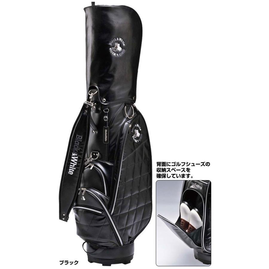 黒&白い(ブラック&ホワイト) キャディバッグ カジュアルタイプ BWMG4FCA