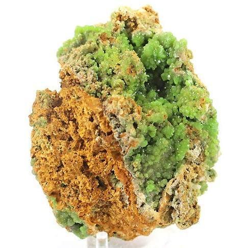 天然石 パイロモルファイト(緑鉛鉱)鉱物 結晶 原石〔 天然石 パワーストーン アクセサリー 〕