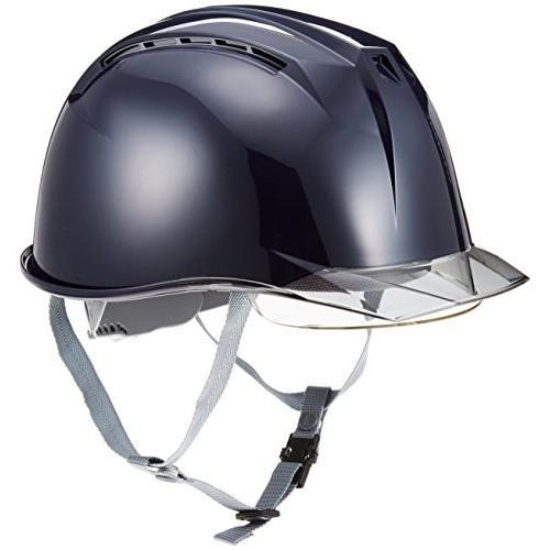 DICプラスチック ヘルメット 通気孔・透明ひさし・保護シールド面・スチロールライナー付 AA11-CSW-HA3E2-K11-NE-S
